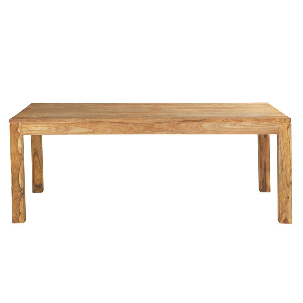 Table de salle manger en bois de sheesham massif l 220 cm stockholm maiso - Bois sheesham massif ...