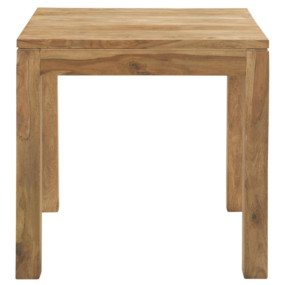 Table de salle manger en bois de sheesham massif l 80 cm for Table a manger en bois