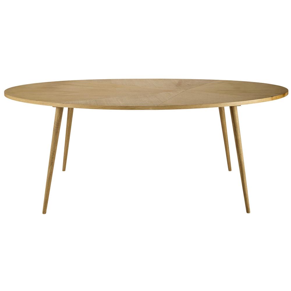 Table de salle manger en bois l 200 cm origami maisons for Table de salle a manger ovale en bois