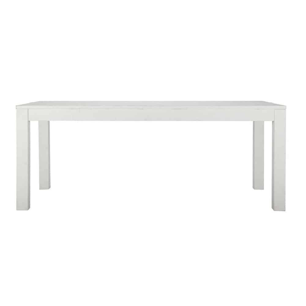 Table de salle manger en bois massif blanche l 200 cm for Table de salle a manger 200 cm