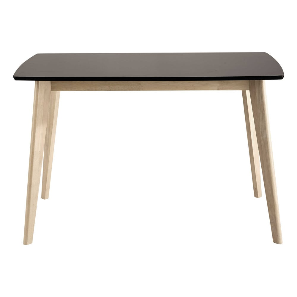 table de salle manger en bois noire l 120 cm mia maisons du monde. Black Bedroom Furniture Sets. Home Design Ideas