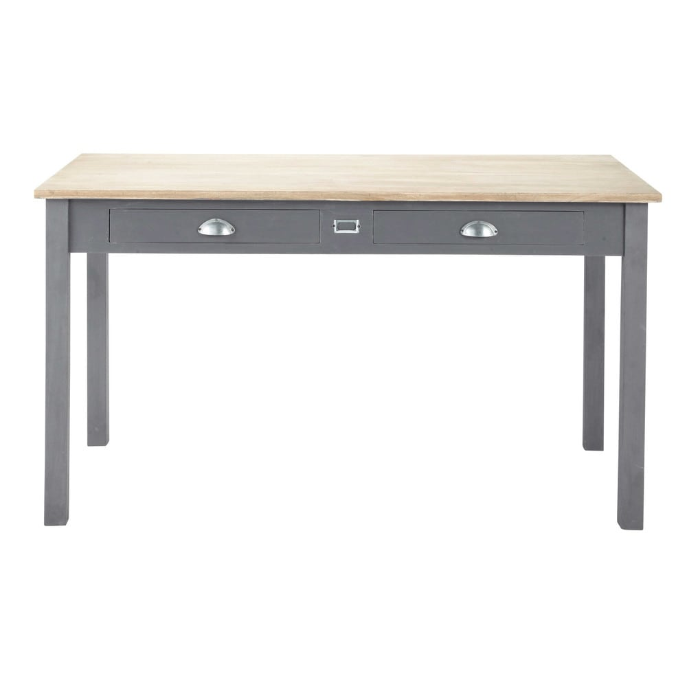 table de salle manger en ch ne l 140 cm chablis maisons du monde. Black Bedroom Furniture Sets. Home Design Ideas