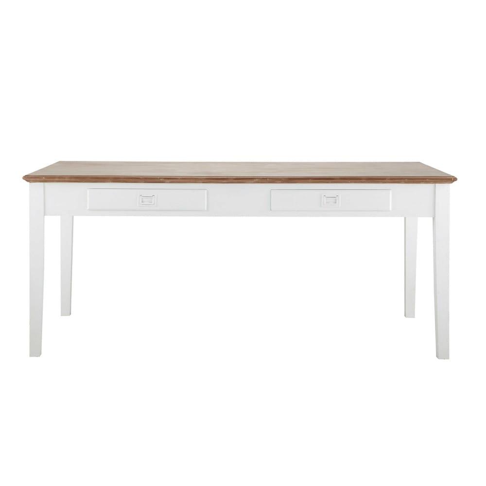 Table de salle manger en fr ne et bois de paulownia l for Chaise de salle a manger hemisphere sud