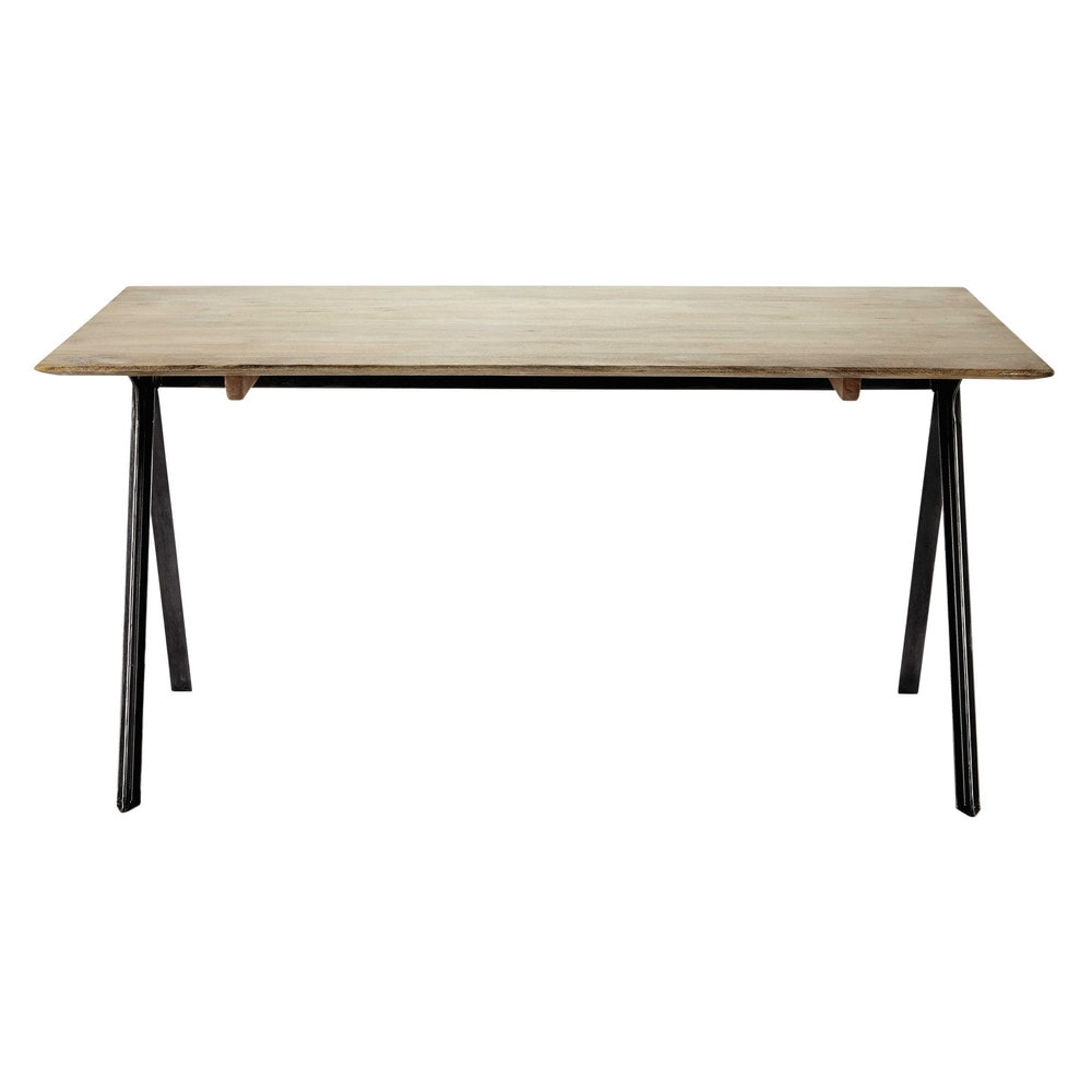 table de salle manger en manguier l 160 cm delight