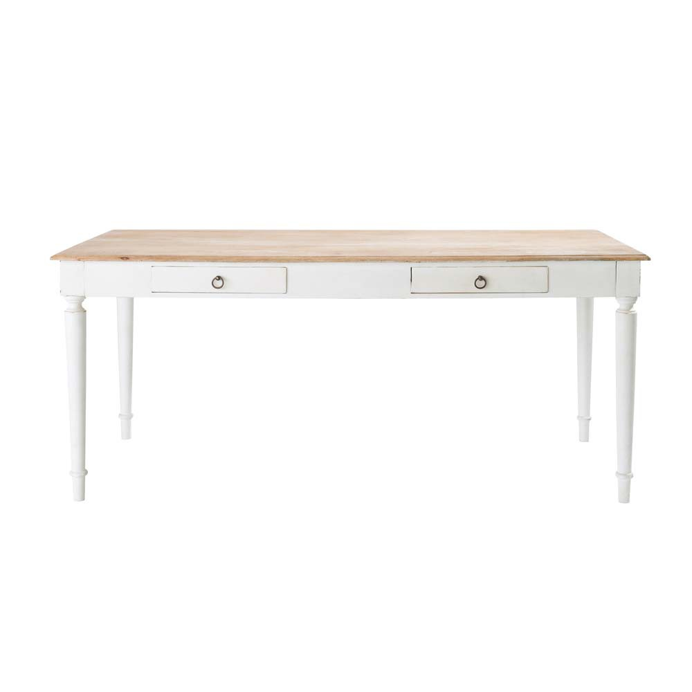 Table de salle manger en manguier l 180 cm bergerac for Maison du monde table