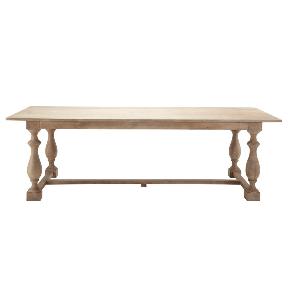 Table de salle manger en manguier l 250 cm marceau for Table salle a manger 250 cm