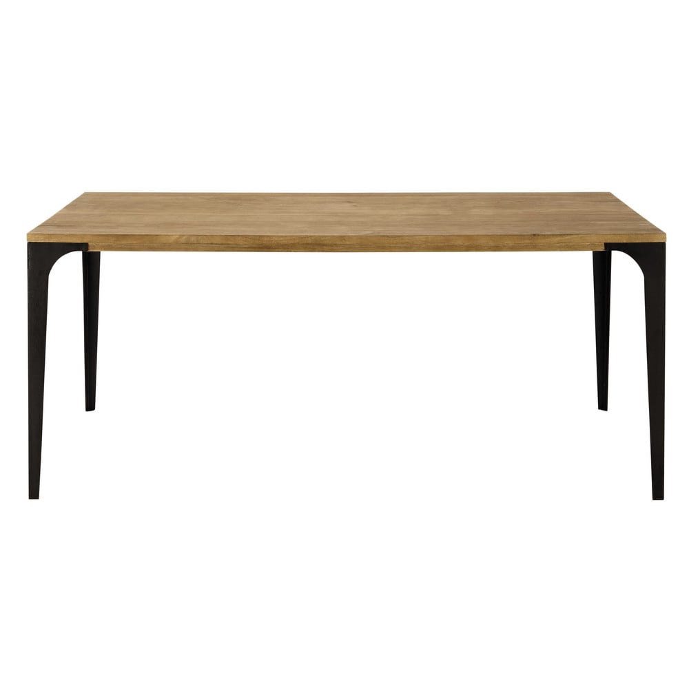 Table de salle manger en manguier massif l 180 cm for Maisons du monde table
