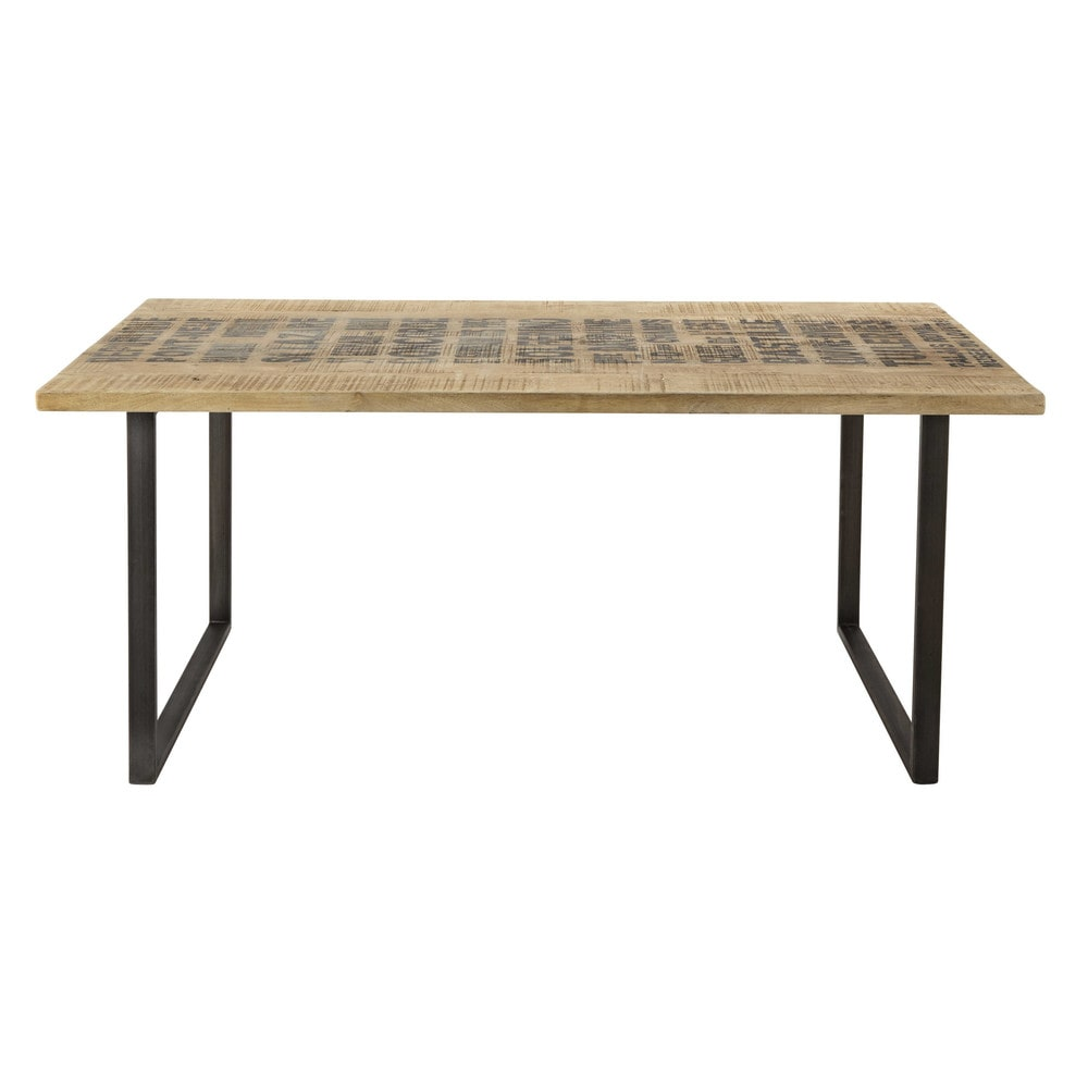 table de salle manger en manguier massif l 180 cm On table de salle a manger 180 cm