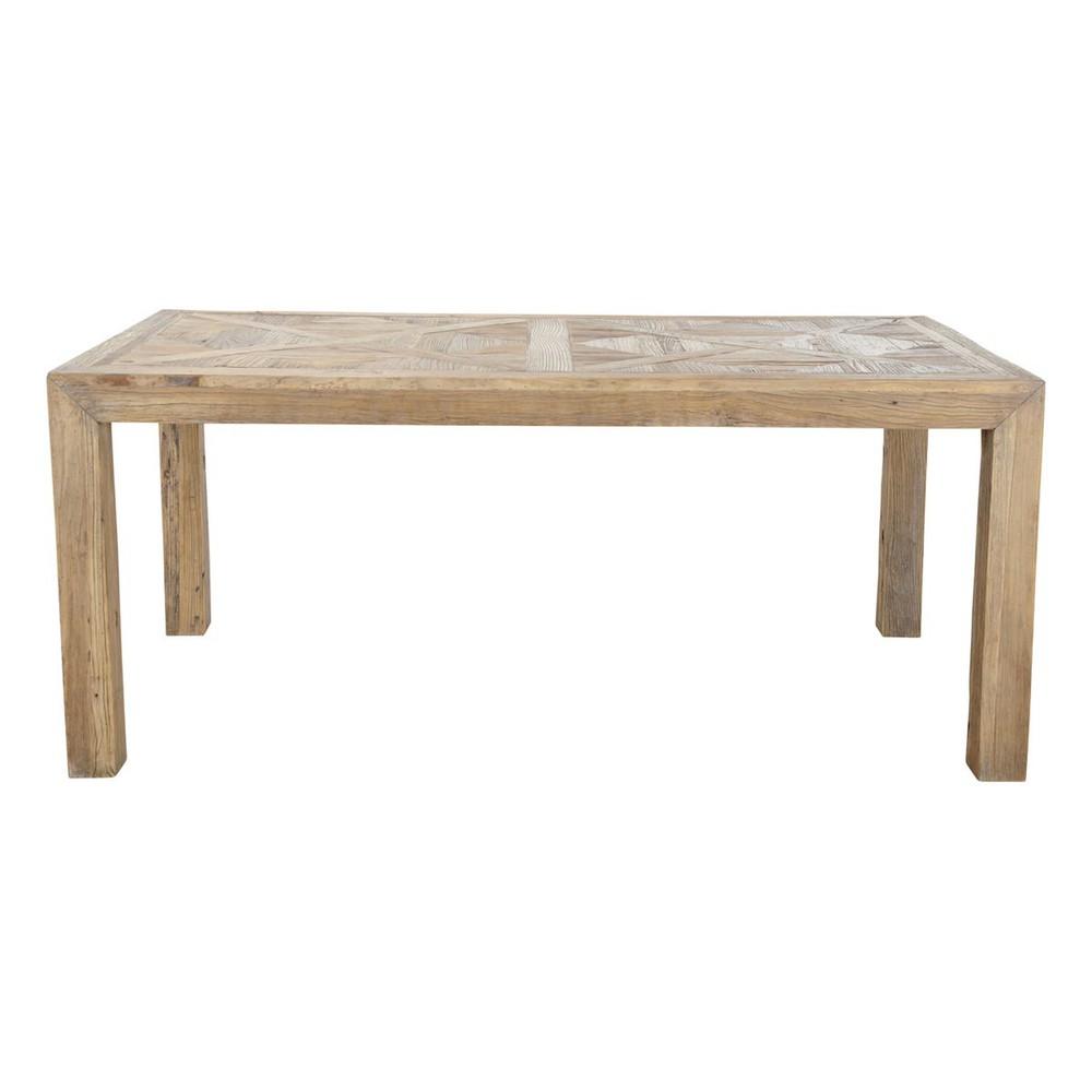 Table de salle manger en orme massif recycl l 180 cm for Salle a manger en orme