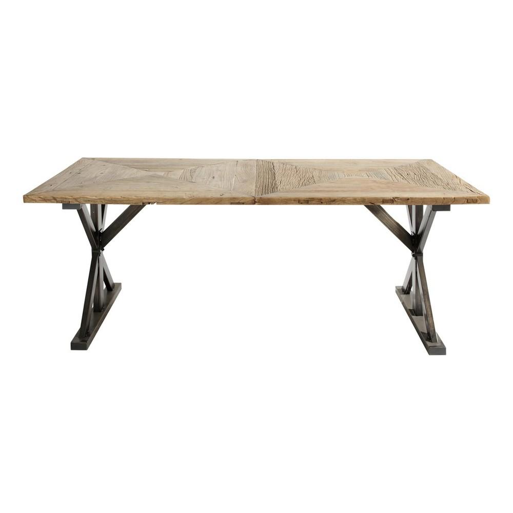 Table de salle manger en orme recycl l 200 cm li ge for Table de salle a manger maison du monde