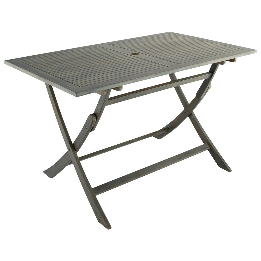 Table pliante de jardin en acacia l 130 cm saint malo maisons du monde - Maison du monde st malo ...