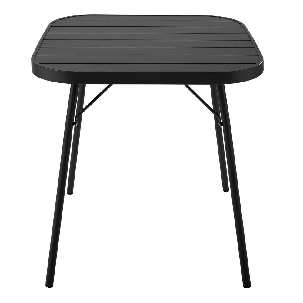 table pliante de jardin en m tal noir l 70 cm soledad maisons du monde. Black Bedroom Furniture Sets. Home Design Ideas