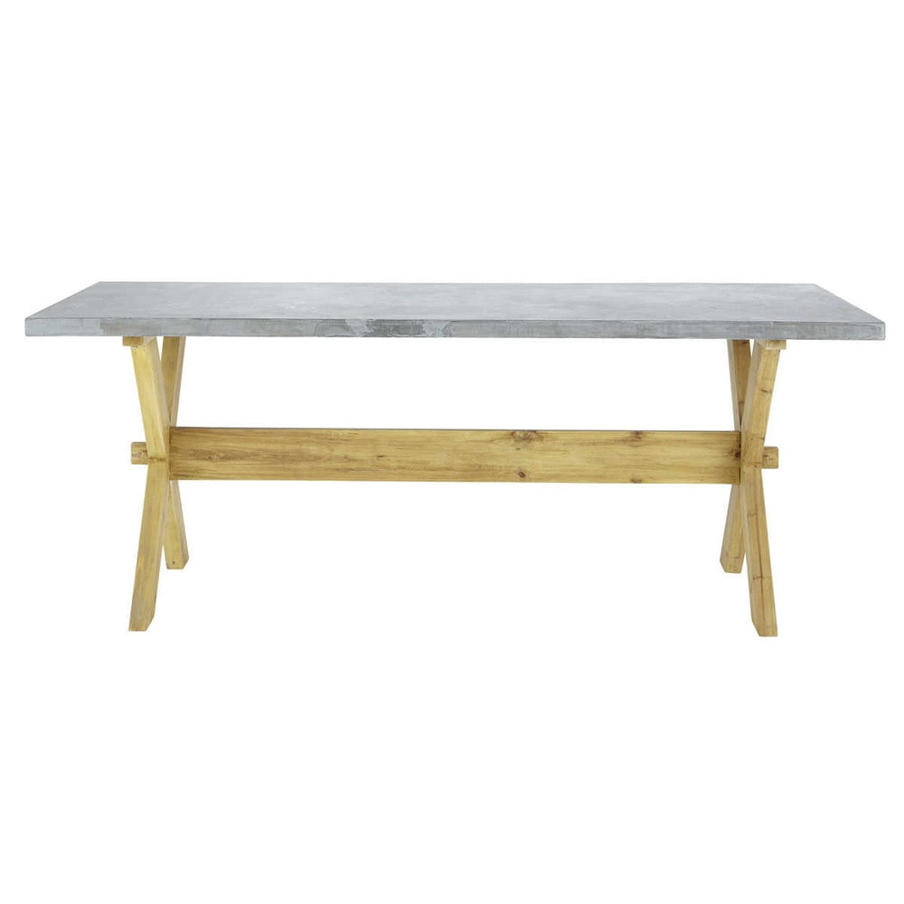 Maison du monde table beton maison design for Table maison du monde