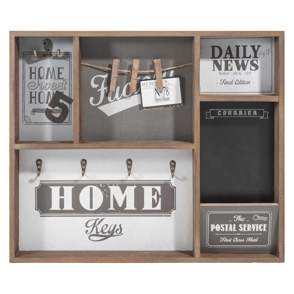 tableau cl s en bois 43 x 51 cm factory graphic. Black Bedroom Furniture Sets. Home Design Ideas