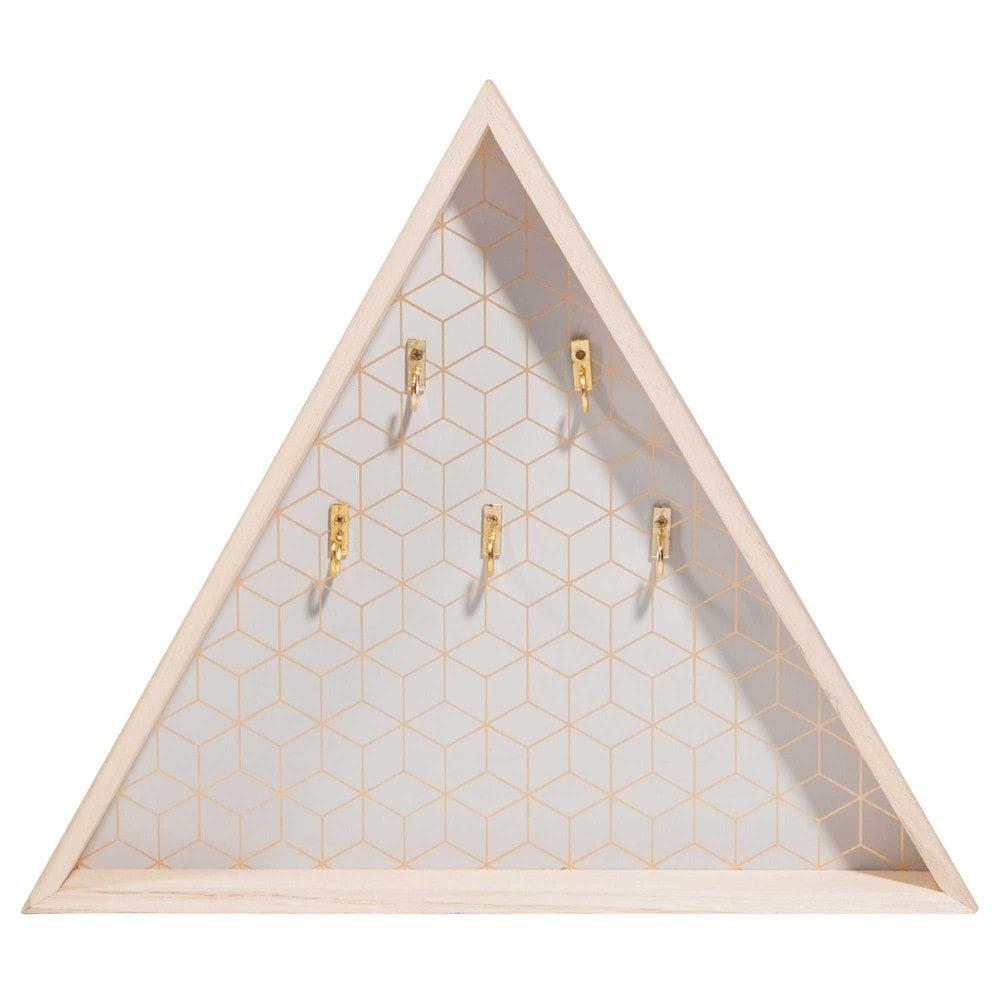 tableau cl s triangle en bois 31 x 35 cm modern grey. Black Bedroom Furniture Sets. Home Design Ideas