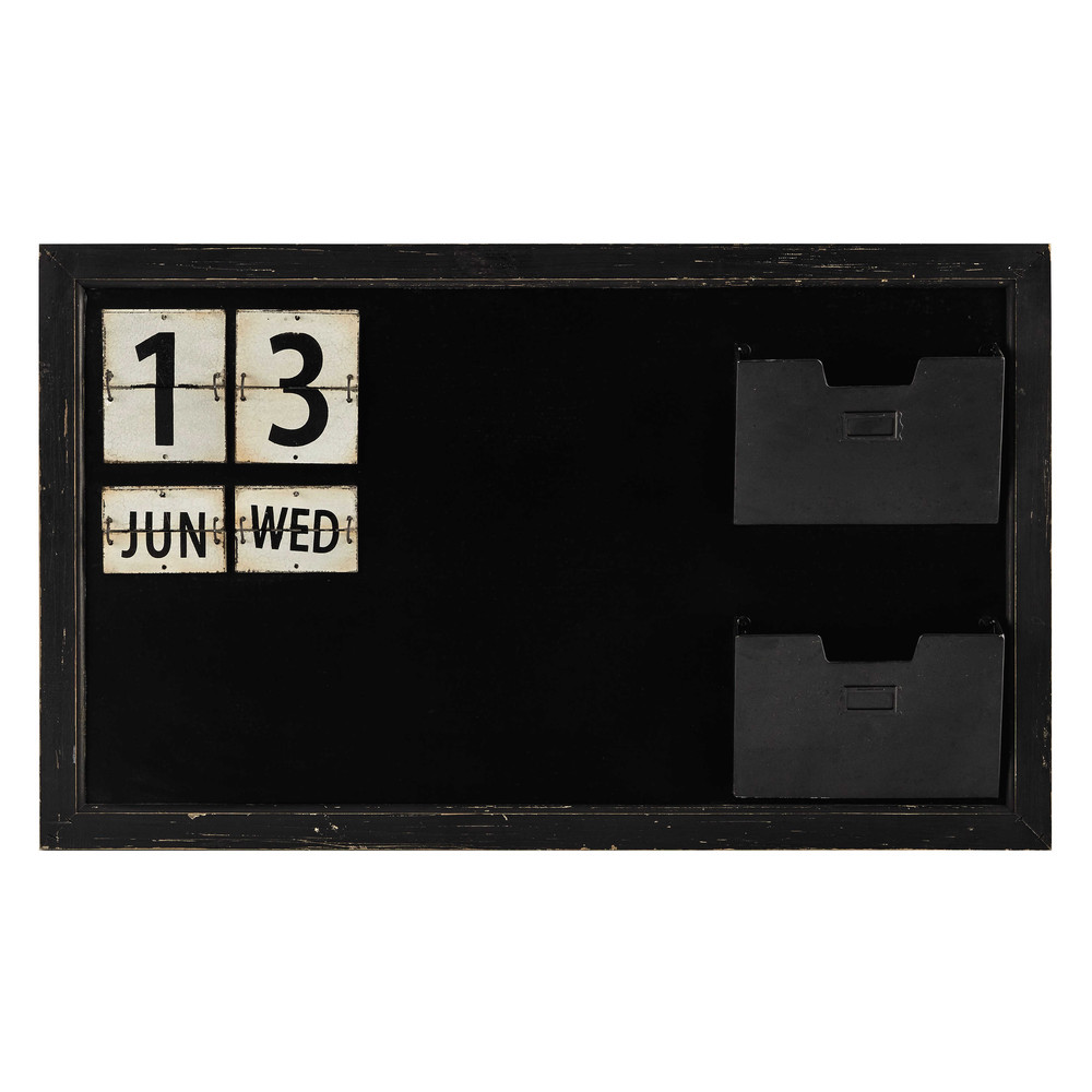 Tableau ardoise en m tal noir 60 x 100 cm fremont Tableau maisons du monde