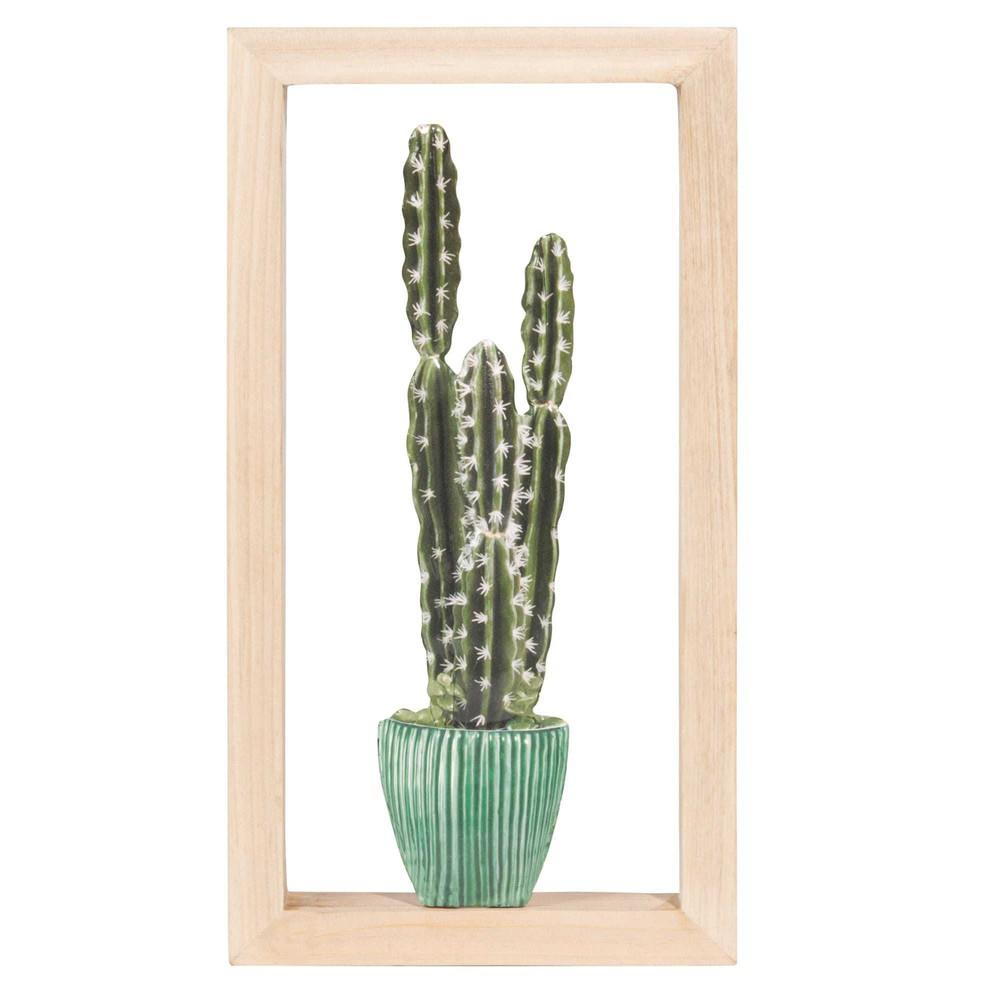 best tableau cactus euphorbe en mtal xcm with maison du. Black Bedroom Furniture Sets. Home Design Ideas