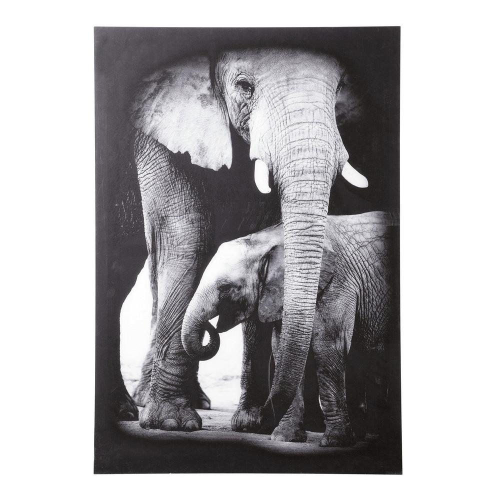 maison du monde tableau elephant. Black Bedroom Furniture Sets. Home Design Ideas