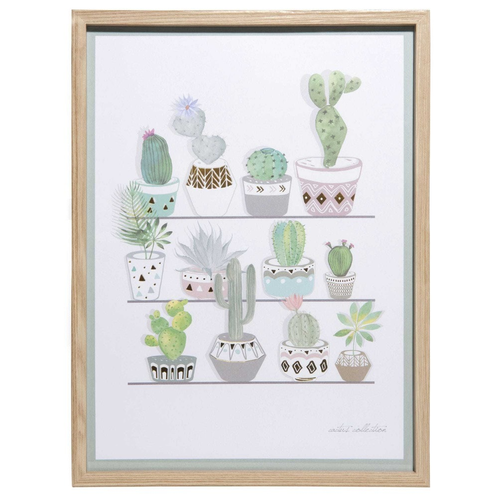 tableau en aluminium dor 30x40cm cactus collection. Black Bedroom Furniture Sets. Home Design Ideas