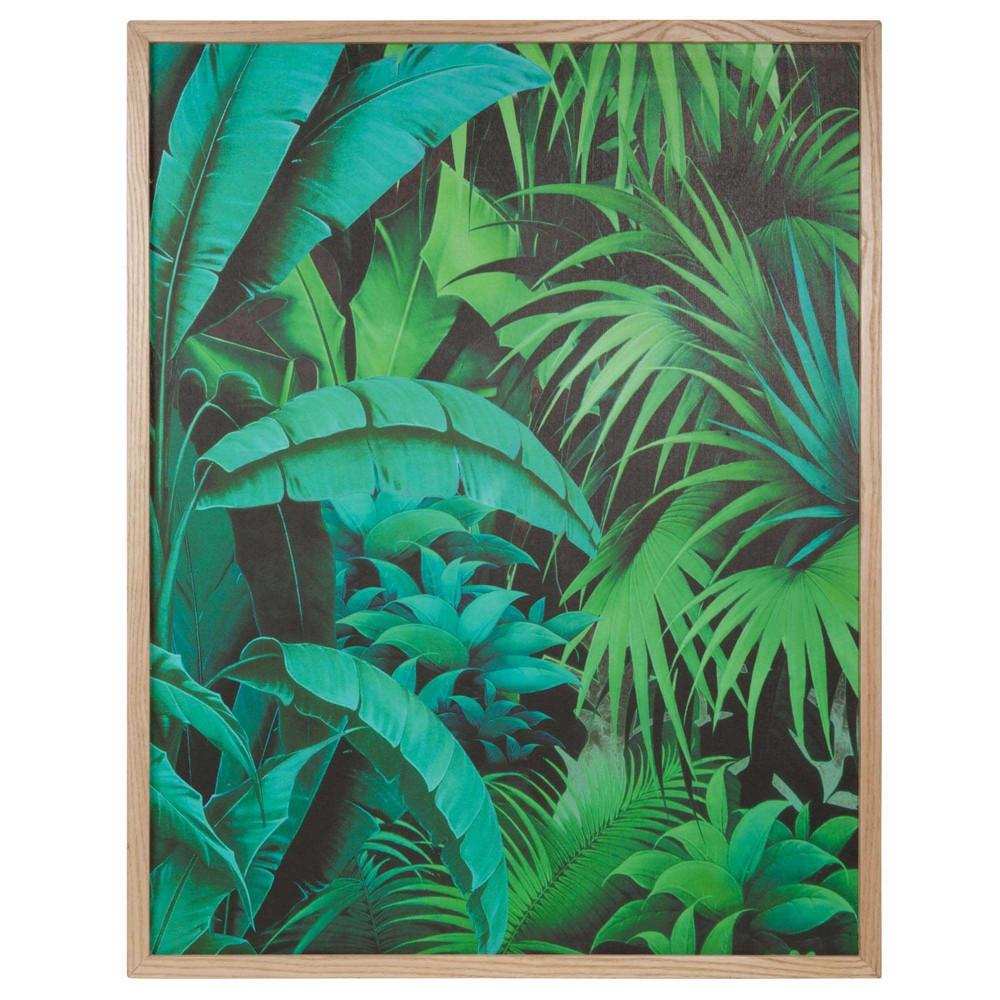 Tableau en bois 67 x 85 cm into the jungle maisons du monde Tableau maisons du monde