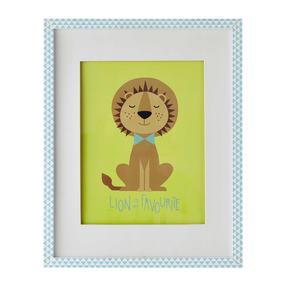 Tableau lion 43x53 cm gaston maisons du monde Tableau maisons du monde