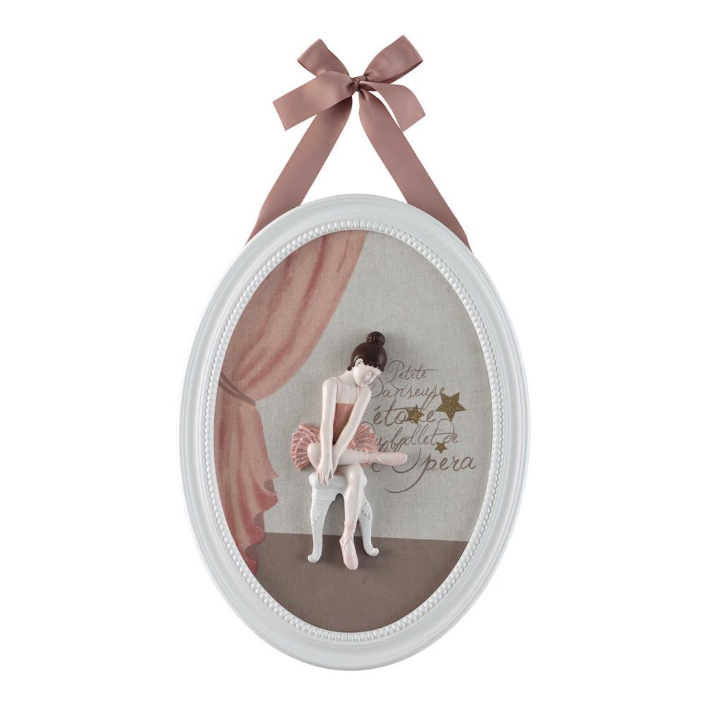 tableau ovale 40 x 45 cm danseuse maisons du monde. Black Bedroom Furniture Sets. Home Design Ideas