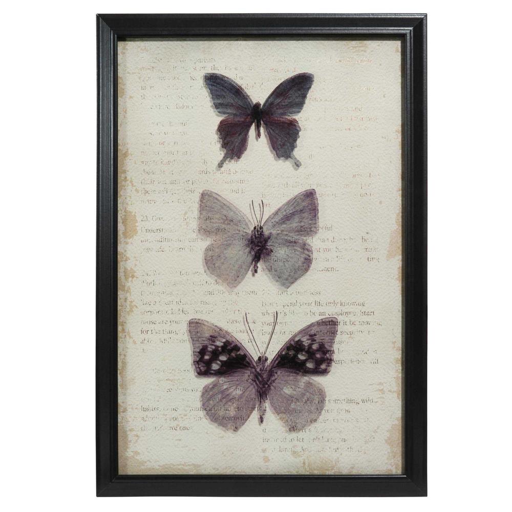 tableau papillons en bois 40 x 60 cm maisons du monde. Black Bedroom Furniture Sets. Home Design Ideas