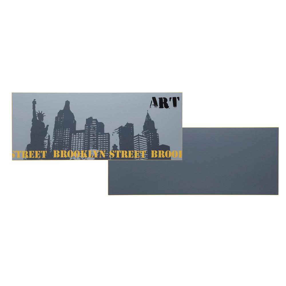 Tablero de escritorio reversible de madera gris estampado gris liso an 150 cm desk maisons du - Tablero escritorio ...