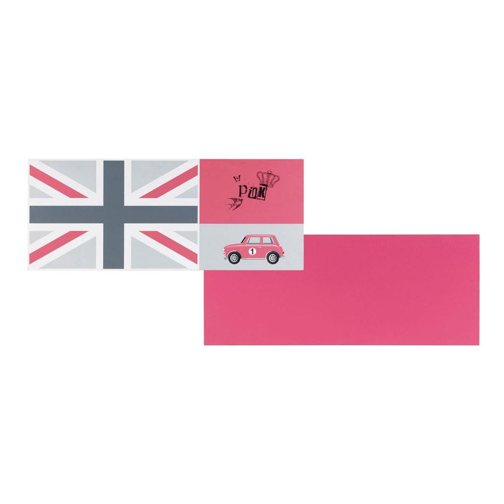 Tablero de escritorio reversible de madera rosa bandera - Tablero escritorio ...