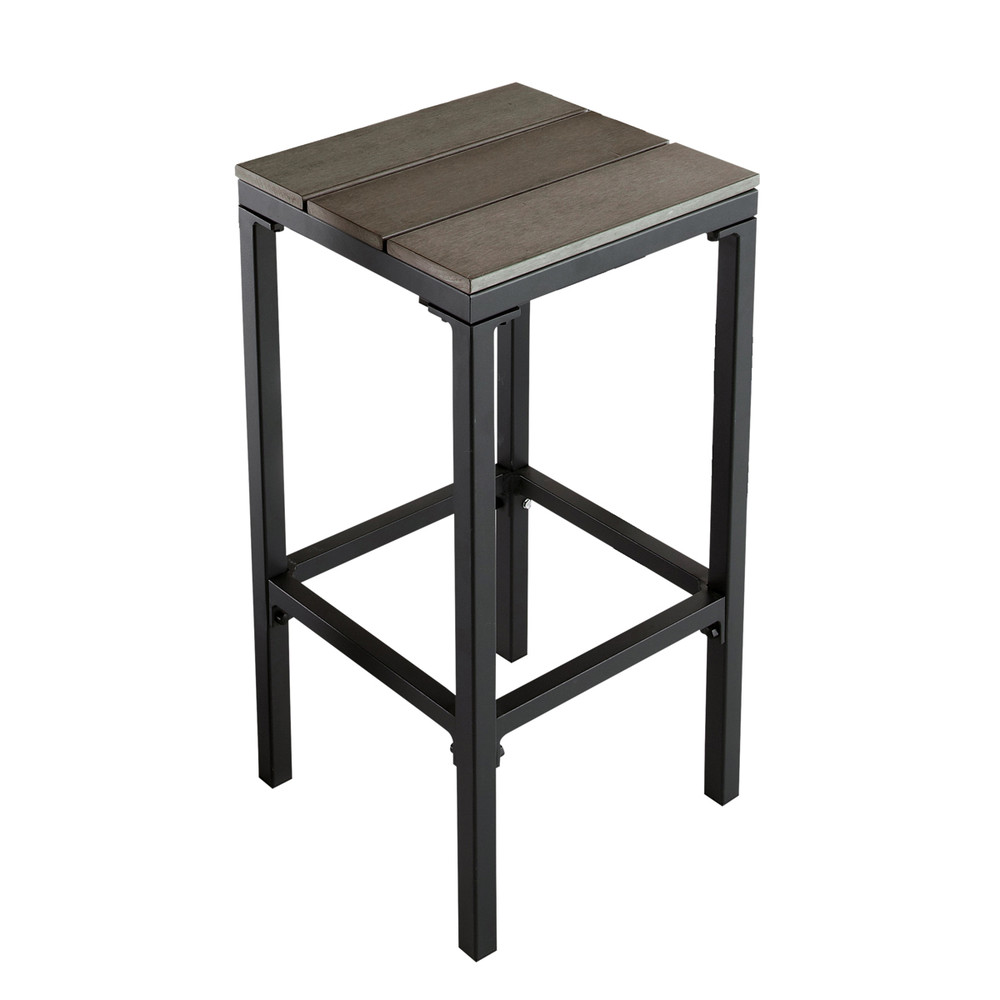 tabouret de bar de jardin en aluminium escale maisons du. Black Bedroom Furniture Sets. Home Design Ideas