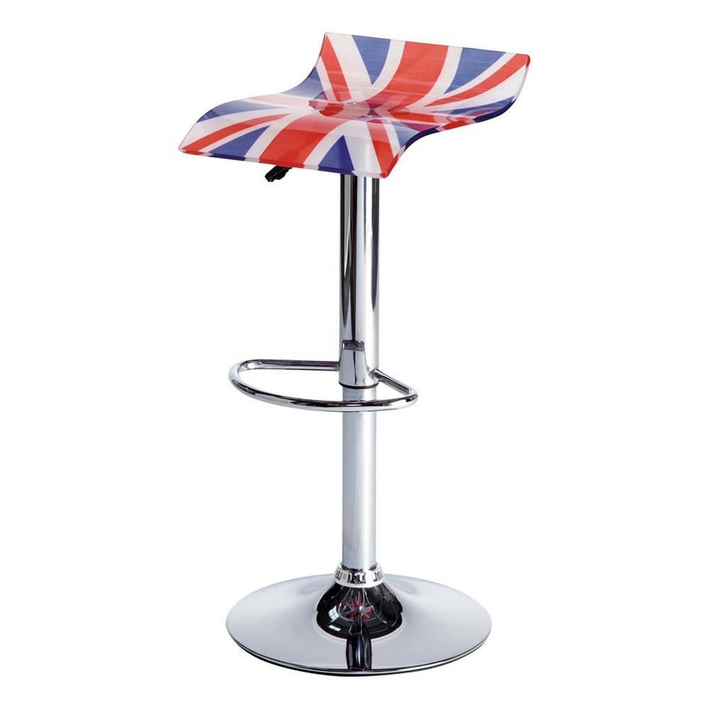 tabouret de bar drapeau british maisons du monde. Black Bedroom Furniture Sets. Home Design Ideas