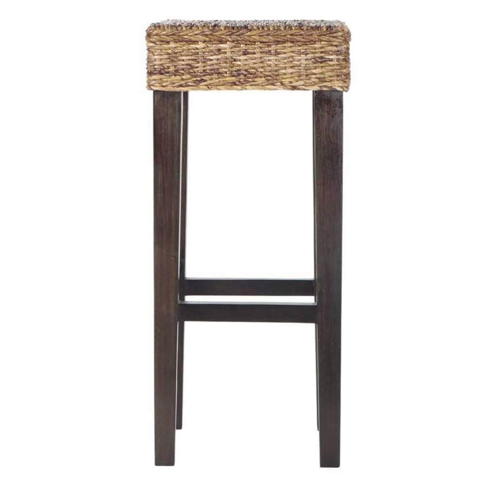 tabouret de bar en abaca et mahogany massif rangoon maisons du monde. Black Bedroom Furniture Sets. Home Design Ideas