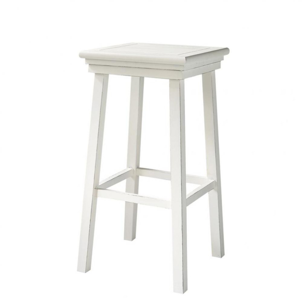 tabouret de bar en bois blanc newport maisons du monde. Black Bedroom Furniture Sets. Home Design Ideas