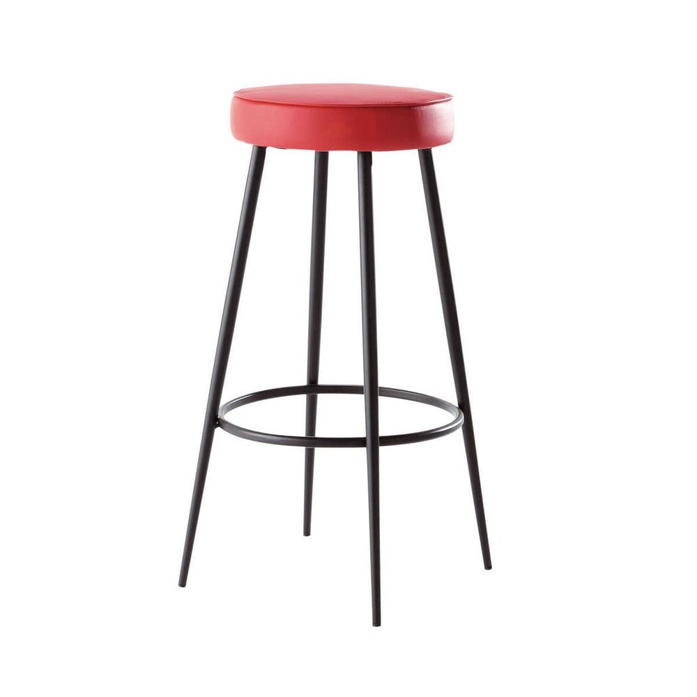 tabouret de bar rouge caps maisons du monde. Black Bedroom Furniture Sets. Home Design Ideas