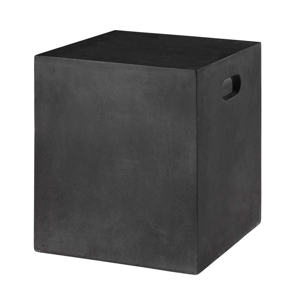 Tabouret de jardin en r sine gris anthracite almada for Table de jardin resine gris anthracite