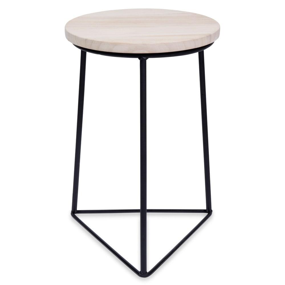 tabouret en bois et m tal luke maisons du monde. Black Bedroom Furniture Sets. Home Design Ideas
