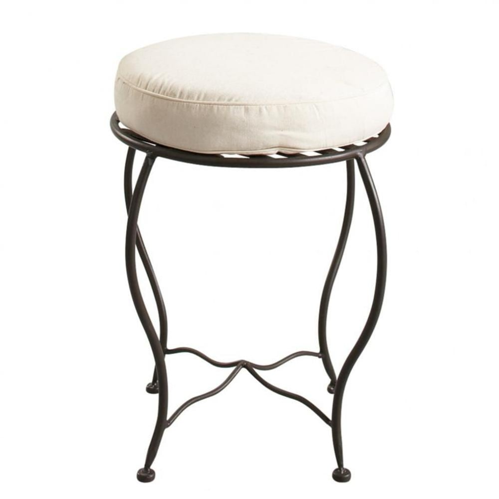 tabouret en fer forg et coton toscane maisons du monde. Black Bedroom Furniture Sets. Home Design Ideas