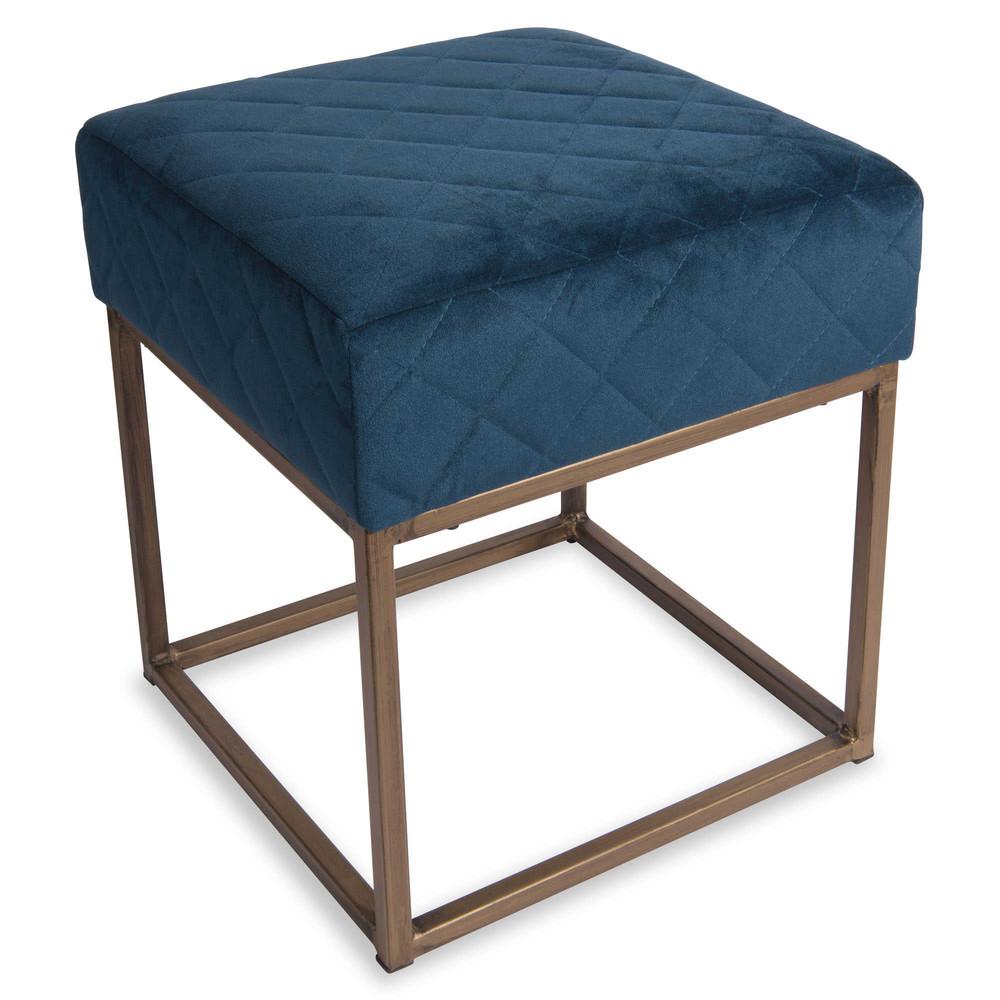 tabouret en m tal bleu nero maisons du monde. Black Bedroom Furniture Sets. Home Design Ideas