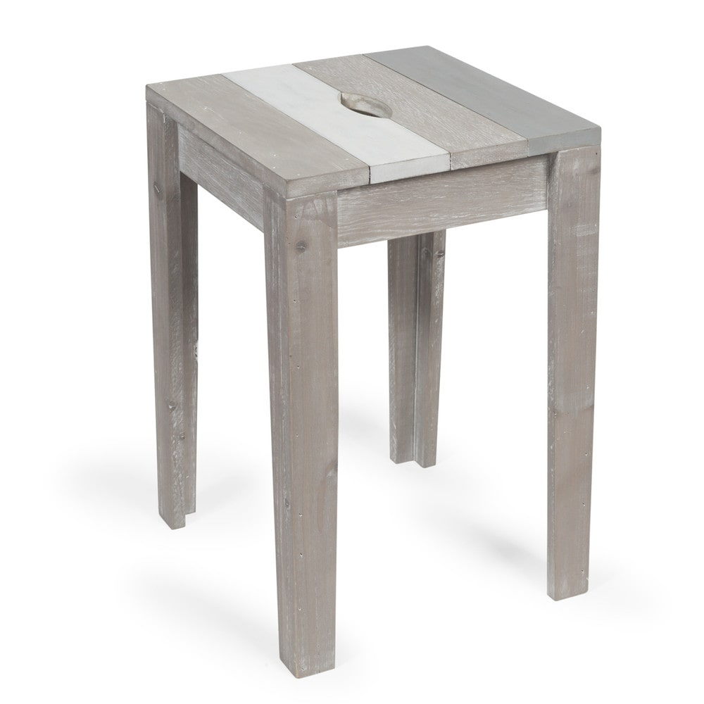 tabouret en sapin gris br hat maisons du monde. Black Bedroom Furniture Sets. Home Design Ideas