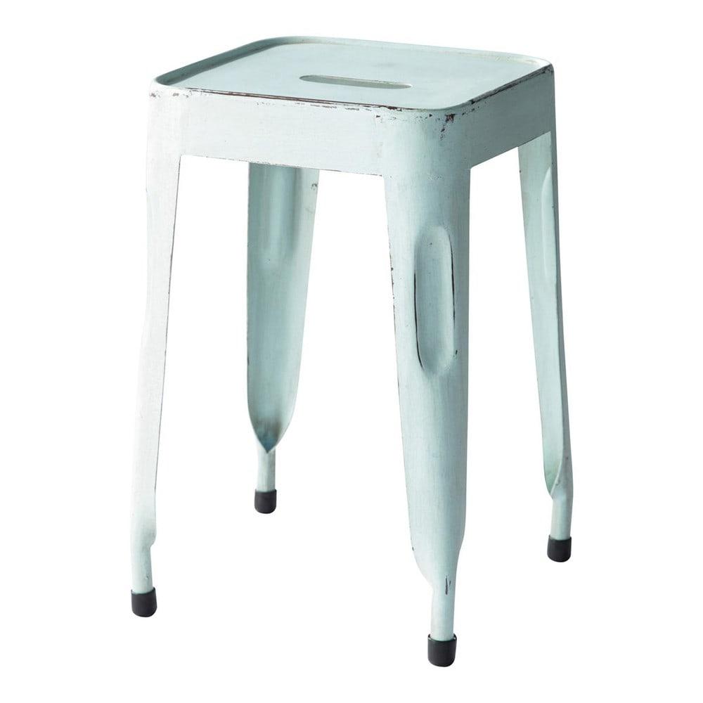 tabouret indus bleu vintage jim maisons du monde. Black Bedroom Furniture Sets. Home Design Ideas