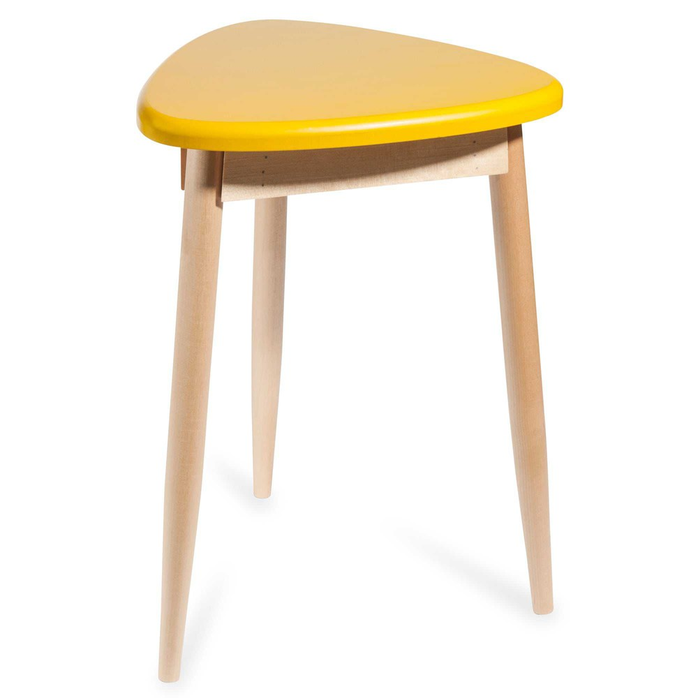 tabouret jaune penny maisons du monde. Black Bedroom Furniture Sets. Home Design Ideas