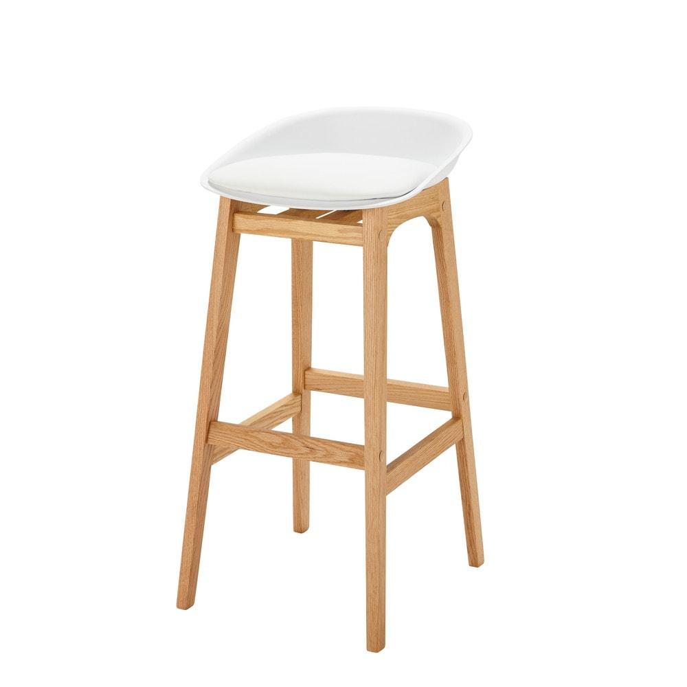 taburete de bar escandinavo blanco ice maisons du monde. Black Bedroom Furniture Sets. Home Design Ideas
