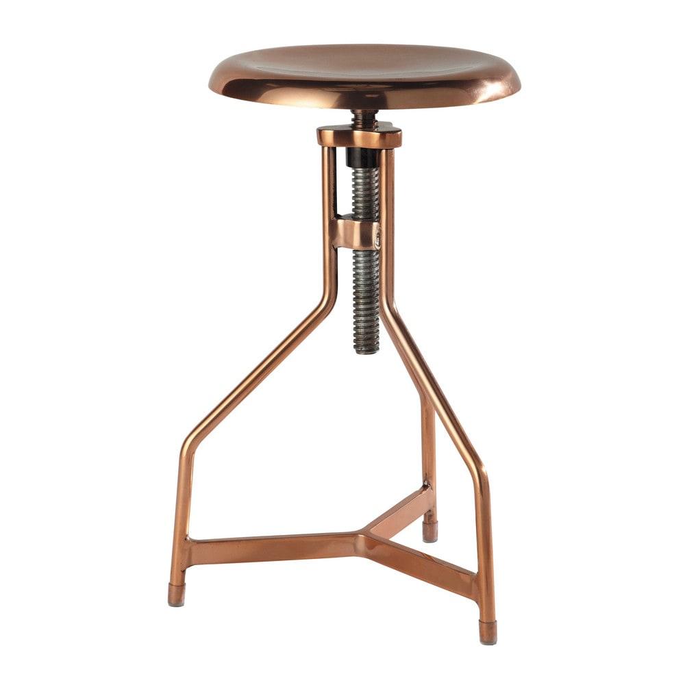 taburete efecto cobre de metal al 69 cm sean maisons du monde. Black Bedroom Furniture Sets. Home Design Ideas