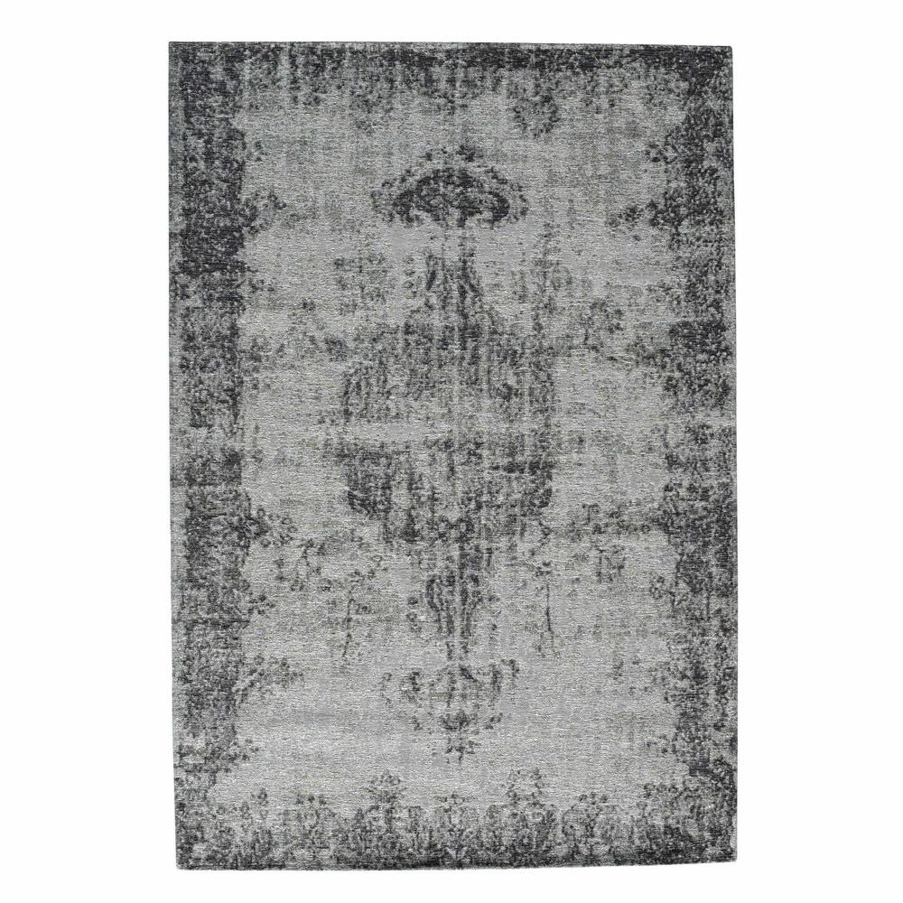 tapis 224 poils courts 233 cru gris 140 x 200 cm villandry maisons du monde