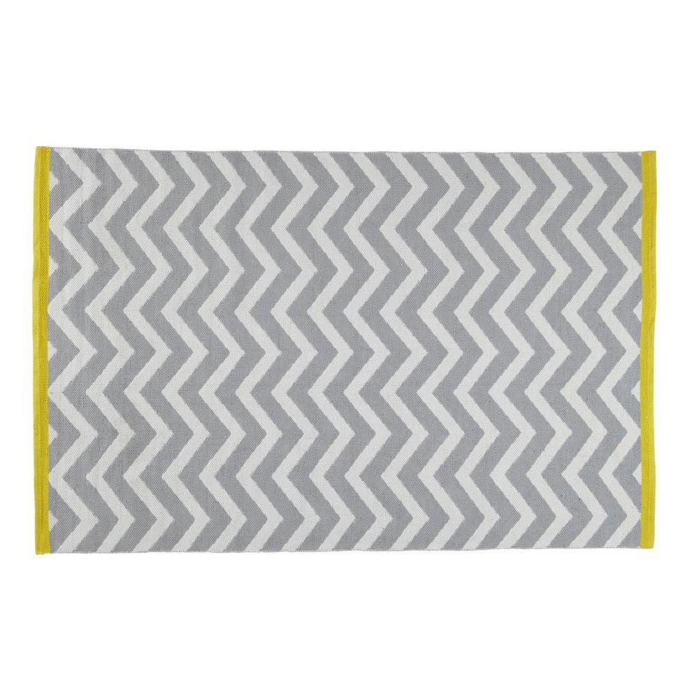 tapis poils courts en coton gris 140 x 200 cm wave. Black Bedroom Furniture Sets. Home Design Ideas