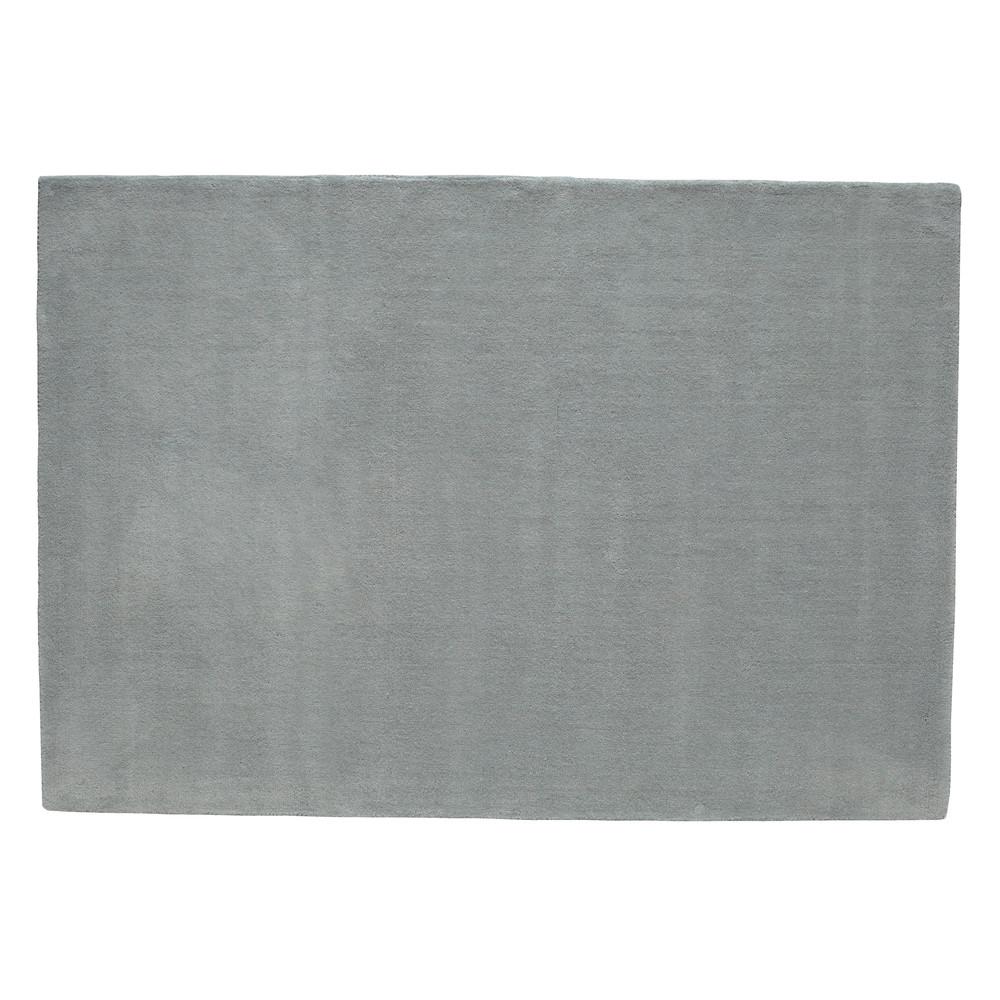 tapis poils courts en laine bleu vintage 140 x 200 cm soft maisons du monde. Black Bedroom Furniture Sets. Home Design Ideas