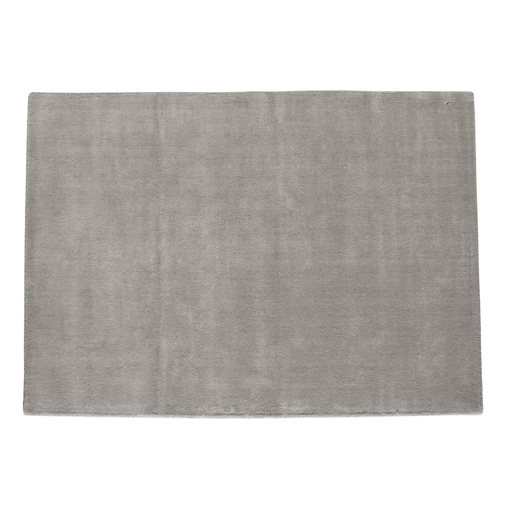 tapis poils courts en laine gris 250 x 350 cm soft maisons du monde. Black Bedroom Furniture Sets. Home Design Ideas