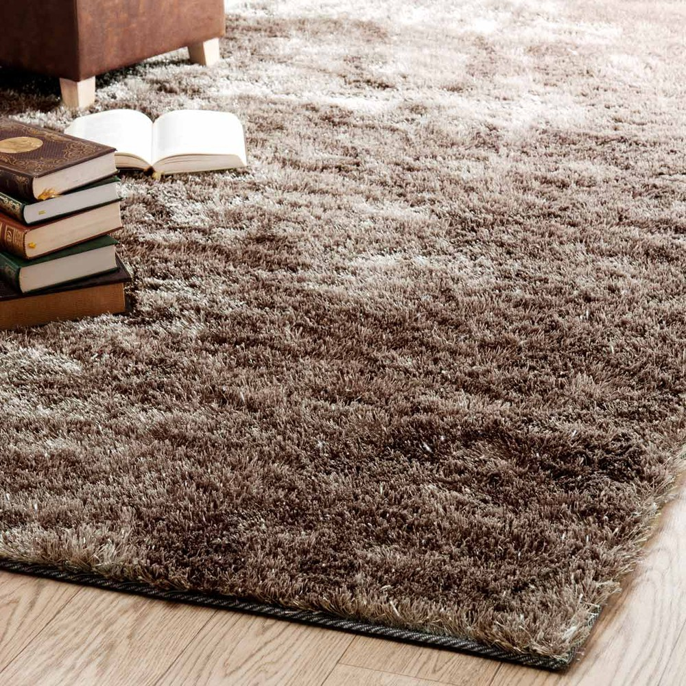 tapis poils longs en tissu beige 160 x 230 cm lumi re maisons du monde. Black Bedroom Furniture Sets. Home Design Ideas
