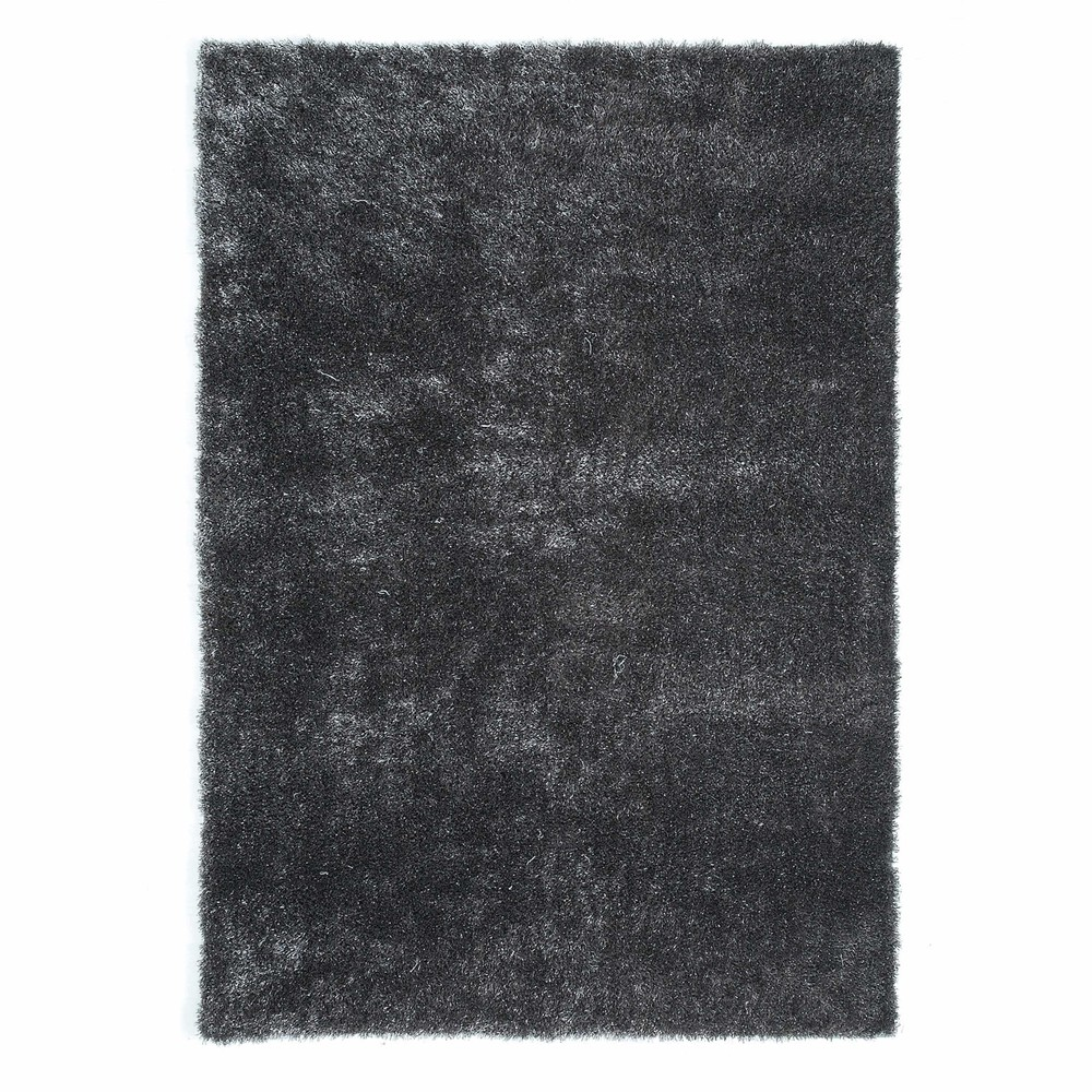 tapis poils longs en tissu gris 140 x 200 cm lumiere maisons du monde. Black Bedroom Furniture Sets. Home Design Ideas