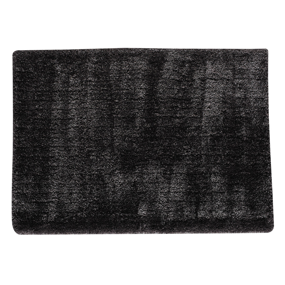 tapis poils longs gris anthracite 160 x 230 cm polaire maisons du monde. Black Bedroom Furniture Sets. Home Design Ideas
